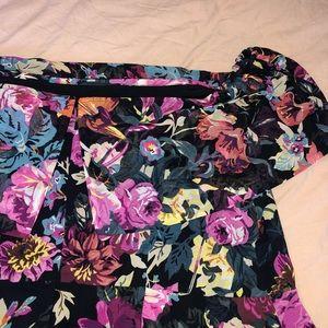 ASOS Curve Dresses - Floral Off Shoulder Midi Dress